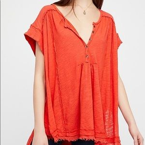 FREE PEOPLE ASTER HENLEY TOP